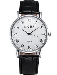 Men's Quartz Casual Fashion Watch Leather Belt Simple Classic Business Round Alloy Dial Watch Cool Watch Unique Watch