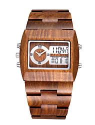 Мужской Спортивные часы Модные часы Уникальный творческий часы Кварцевый Японский кварцLED Календарь Секундомер С двумя часовыми поясами