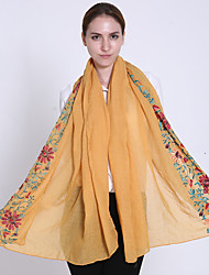 Women Spring Casual National Wind Double-sided Embroidery Flowers Vine Printed Travel Shawl Scarves Scarf