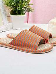 Unisex Slippers & Flip-Flops Spring / Summer / Fall Scuff Linen Casual Flat Heel Others Blue
