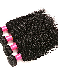 Malaysian Virgin Hair 4 bundles Weft Hair Malaysian Curly Hair Kinky Curly Human Hair Weaves Natural Color