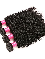 Человека ткет Волосы Индийские волосы Кудрявый 6 месяца 4 предмета волосы ткет
