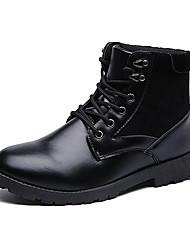 Masculino-Botas-Conforto / Coturno / Botas Montaria / Botas da Moda / Botas de Motocicleta-Salto Baixo-Preto / Marrom-Couro / Camurça-