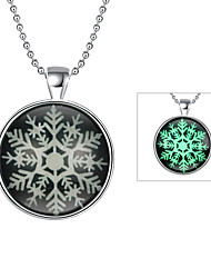 Cremation Jewelry Magical Glow in The Dark 925 Sterling Silver Luminous Christmas Pendant Necklace