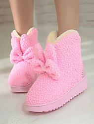 Women's Boots Fall / Winter Snow Boots Fleece Outdoor / Casual Flat Heel Bowknot Black / Green / Pink / Red Snow Boots