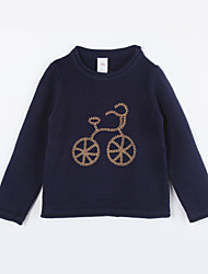 Girl's Casual/Daily Solid Sweater & CardiganCotton Fall Blue