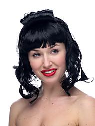 Asian Lady Black Medium Halloween Wig Synthetic Wigs Costume Wigs
