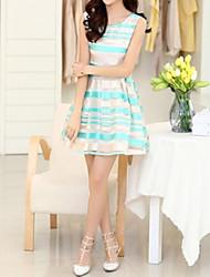 Women `s Neue Sommer gestreiften Kleid