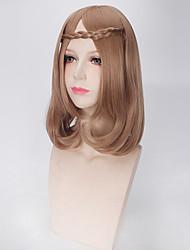 Noir perruque Synthétique Fabriqué à la machine Perruques Court Marron Cheveux