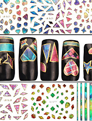 4 Nail Sticker Art Autocollants 3D pour ongles Abstrait Maquillage cosmétique Nail Art Design