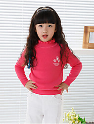 Girl's Casual/Daily Floral BlouseCotton Winter / Fall Pink / Red / White / Yellow / Gray