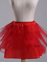 Slips(Polyester,Weiß / Schwarz / Rot) -80-3-Abendkleid