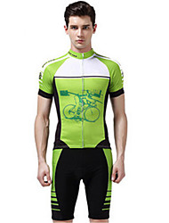 Sports Cycling Jersey with Shorts Men's Short Sleeve Bike Quick Dry / Windproof / Compression / Comfortable / SunscreenClothing