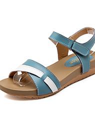 Women's Sandals Summer / Fall Platform / Comfort Leather Casual Wedge Heel