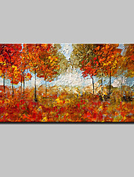 Large Size Hand Painted Modern Abstract Landscape Oil Painting On Canvas Wall Art With Stretched Frame Ready To Hang