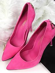 Damen-High Heels-Lässig-Gummi-Stöckelabsatz-Pumps-Schwarz / Blau / Grün / Rot / Khaki / Pfirsich