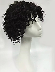 Top Quality Short Length Natural Black Deep Curly Raw Unprocessed Brazilian Virgin Human Hair Wig