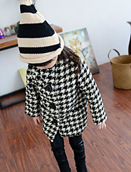 Girl's Casual/Daily Striped Suit & BlazerCotton Winter Black