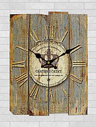 Модерн Прочее Настенные часы,Квадратный Дерево 30*30cm*3cm В помещении Часы