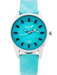Damen Modeuhr Armbanduhr Quartz / PU Band Cool Bequem Schwarz Weiß Blau Beige Rose Schwarz Beige Dunkelblau Rose Hellblau