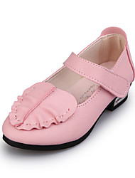 Girl's Flats Spring / Summer Flats PU Casual Flat Heel Split Joint / Ruffles Pink / Red / White Others
