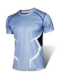 Running T-shirt / Sweatshirt Men's Short Sleeve Breathable / Quick Dry / Reflective Strips / Sweat-wicking  LYCRA