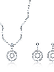 Jewelry Set Alloy Gem Fashion White Necklace/Earrings Wedding Party Daily Casual 1set Necklaces Earrings Wedding Gifts