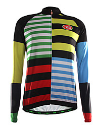 Sports Cycling Jersey Men's Long Sleeve Bike Breathable / Thermal / Warm / Front Zipper / Wearable / Ultra Light Fabric TopsCoolmax /