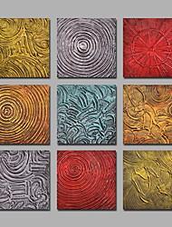 Pintados à mão Abstracto Pinturas a óleo,Modern Mais que 5 painéis Tela Hang-painted pintura a óleo For Decoração para casa