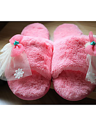 Unisex Slippers & Flip-Flops Spring Fall Winter Customized Materials Casual Flat Heel Others Pink Gray Beige Other