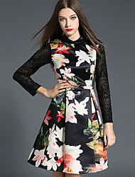 Women's Going out / Party/Cocktail / Holiday Vintage / Street chic / Sophisticated A Line Dress