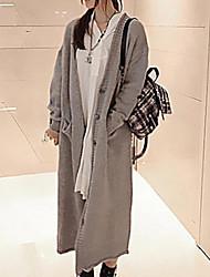 moda pescoço v cardigan puro longas blusas femininas