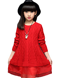 Girl's Casual/Daily Solid Sweater & CardiganCotton Spring / Fall Green / Purple / Red