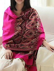 Ms. National Wind Fall And Winter Shawls Cashew Spend Jacquard Fringed Scarves Long Warm Color