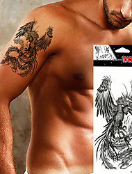 5Pcs Domineering Temporary Tattoo Stickers Waterproof Black Eagle Tattoo Totem for Arm Back Body Art