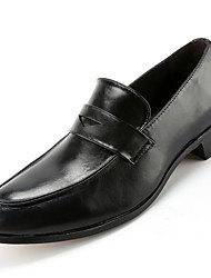 Men's Loafers & Slip-Ons Comfort Leather Office & Career / Casual Flat Heel Slip-on / Tassel Black / Brown / Burgundy