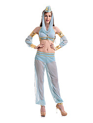 Cosplay Kostüme / Party Kostüme Cosplay Fest/Feiertage Halloween Kostüme Himmelblau einfarbig Top / Rock / Mehre Accessoires Halloween