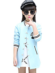 Girl's Casual/Daily Print Jacket & CoatOthers Fall Blue / Pink
