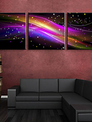E-HOME® Stretched LED Canvas Print Art Gorgeous Color LED Flashing Optical Fiber Print Set of 3