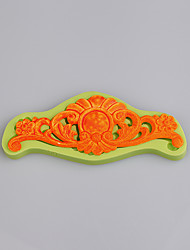 Hot baroque vintage floral silicone mould for silicone cake decorating mould candy