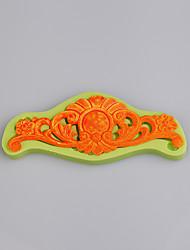 Moule en silicone floral vintage à la mode et chaud pour le gâteau de silicone décoration de la couleur des bonbons au moule aléatoire