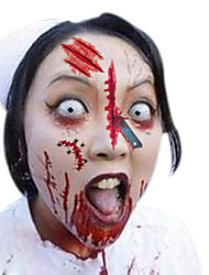 5pcs Vampire Bite Marks/Blood Halloween Scar Tattoos Temporary Tattoos Sticker Waterproof
