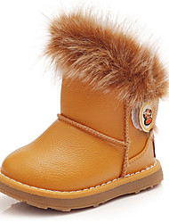 Girl's Boots Fall / Winter Snow Boots Leatherette Outdoor / Casual Flat Heel Slip-on  Snow Boots