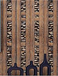 В полоску Обои Для дома Современный Облицовка стен , ПВХ/винил материал Клей требуется обои , Обои для дома