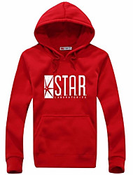 Men's Letter Casual / Work HoodieCotton / Acrylic / Polyester Long Sleeve Black / Blue / Red / Gray 916382