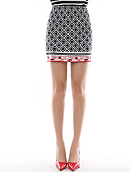 Wake Up Women's Above Knee Skirt-DQ823