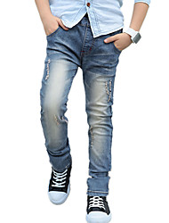 Boy's Wild Fashion Washed Denim Pants / Jeans