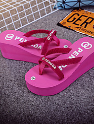 Women's Slippers & Flip-Flops Spring Summer Fall Comfort Rubber Casual Chunky Heel Others Black Peach Others