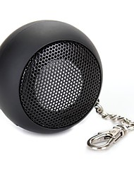 DK-601 Mini Portable Capsule Speaker Rechargeable for MP3 Mobile Phone Black