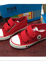 Unisex Boat Shoes Spring Summer Fall Canvas Casual Flat Heel Lace-up Black Red White Other